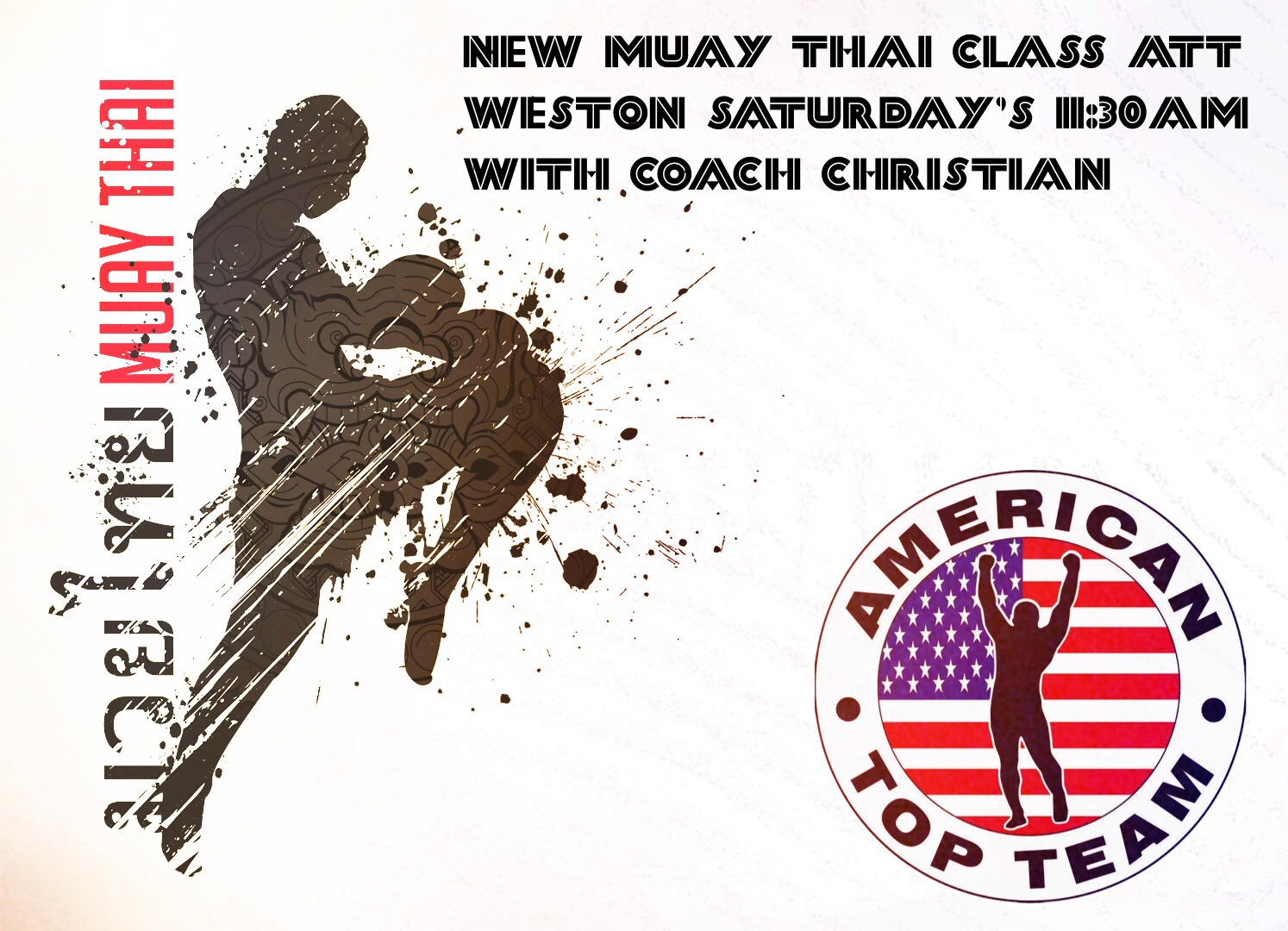 New MUAY THAI class at ATT WESTON