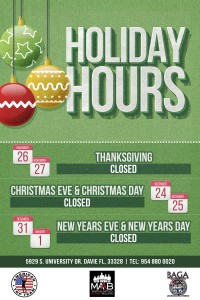 holiday hours davie